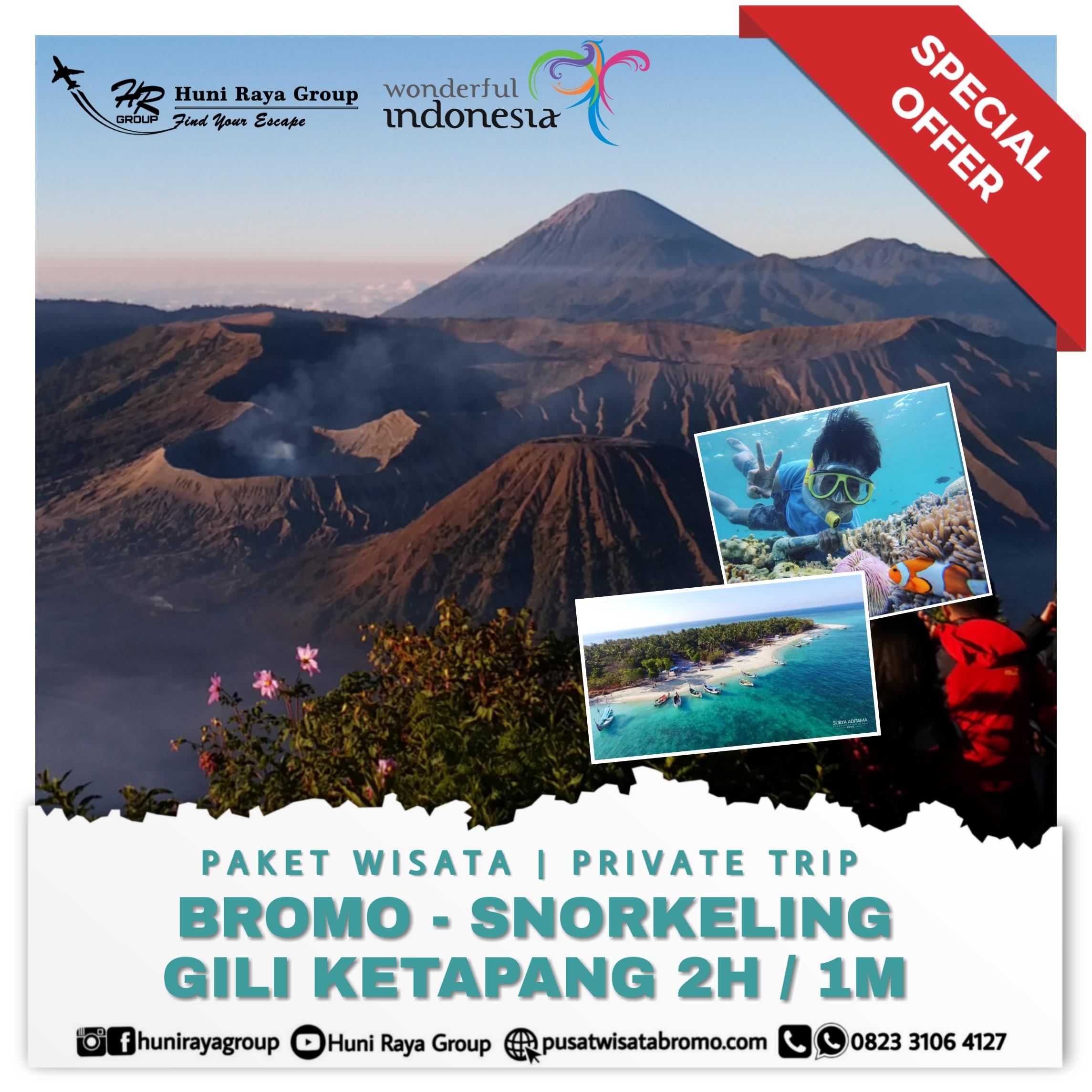paket wisata bromo dan snorkeling Gili Ketapang dari malang atau surabaya terbaru